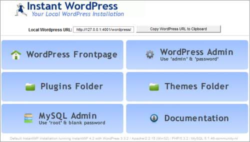 Instant WordPress: schnelle und komfortable Installation unter Windows